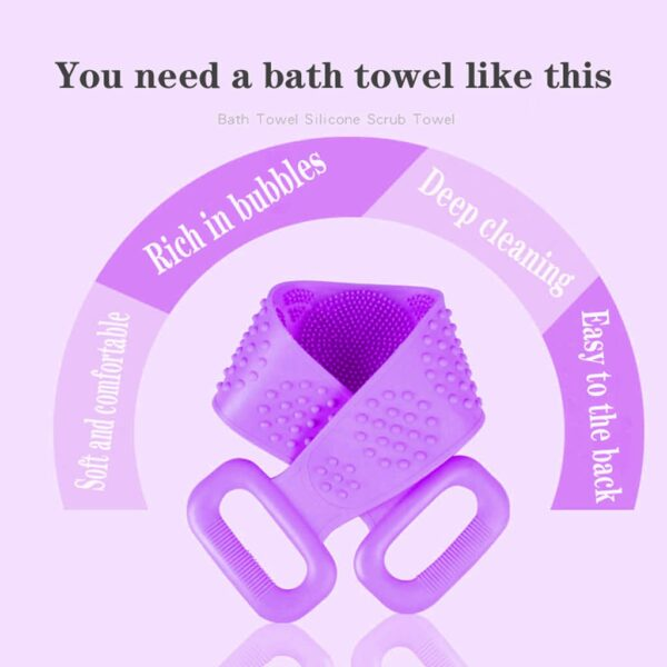 Magic Silicone Brushes Bath Towels Rubbing Back Mud Peeling Body Massage Shower Extended Scrubber Skin Clean Brushes Bathroom
