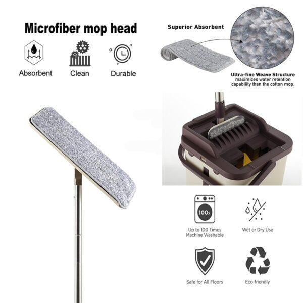 Home Floor Cleaning Mop And Bucket Microfiber mop cloth Replacement Practical Household Dust Reusable Cleaning tools
