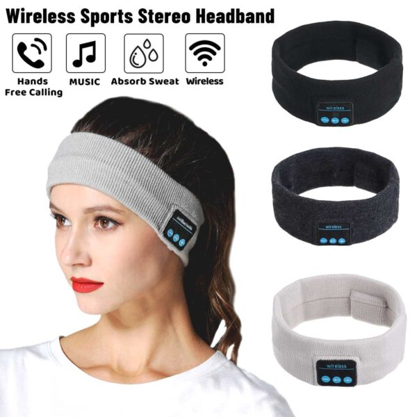 Wireless bluetooth 5.0 Earphones Sleeping Eye Mask Music player / Sports headband Travel Headset Speakers Built-in Speakers Mic